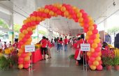 Balloon Arch (Orange & Red)